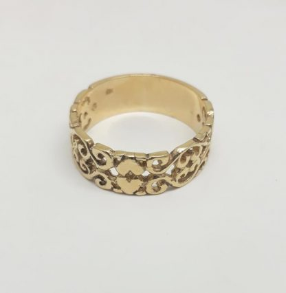 9ct Yellow Gold Double Heart Stack Ring - Goldfish Jewellery Design Studio