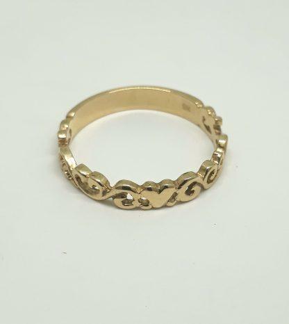 9ct Yellow Gold Filigree Heart Stack Ring - Goldfish Jewellery Design Studio