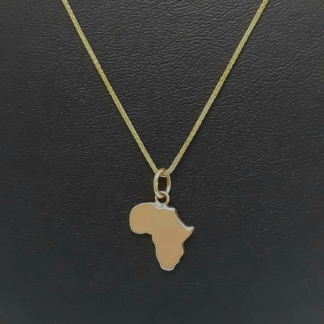 9ct Yellow Gold Medium Africa Pendant - Goldfish Jewellery Design Studio