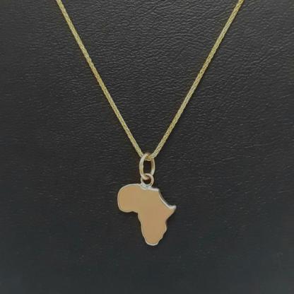9ct Yellow Gold Medium Africa Pendant - Goldfish Jewellery Design Studio