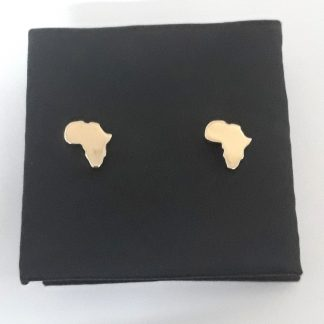 9ct Yellow Gold Small Africa Studs Earrings - Goldfish Jewellery Design Studio