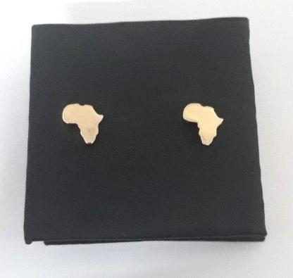 9ct Yellow Gold Small Africa Studs Earrings - Goldfish Jewellery Design Studio