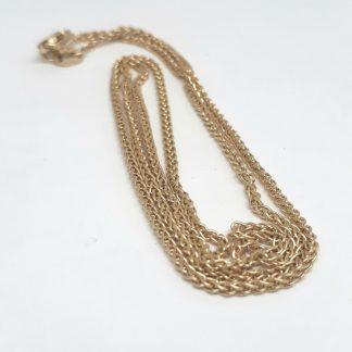 9ct Yellow Gold Wheat Chain 45cm 032 gauge - Goldfish Jewellery Design Studio