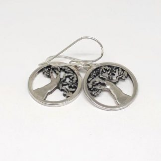 Sterling Silver Baobab Earrings - Goldfish Jewellery Design Studio