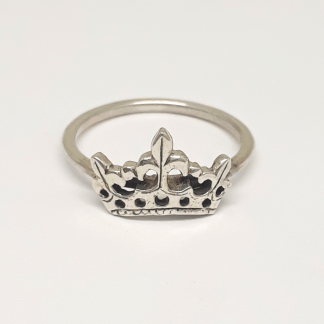 Sterling Silver Crown Stack Ring - Goldfish Jewellery Design Studio
