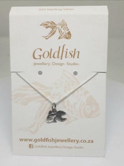 Sterling Silver Goldfish Charm on Chain - Goldfish Jewellery Design Studio