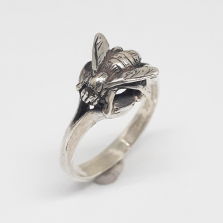 Sterling Silver Honey Bee Ring - Goldfish Jewellery Design Studio
