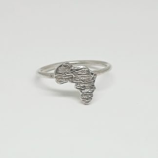 Sterling Silver Medium Cuttlefish Africa Stack Ring - Goldfish Jewellery Design Studio
