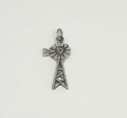 Sterling Silver Medium Windpump Charm - Goldfish Jewellery Design Studio