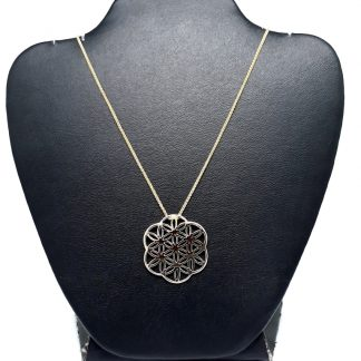 9ct Yellow Gold Flower of Life Pendant - Goldfish Jewellery Design Studio
