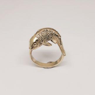 9ct Yellow Gold Koi Fish Ring - Goldfish Jewellery Design Studio