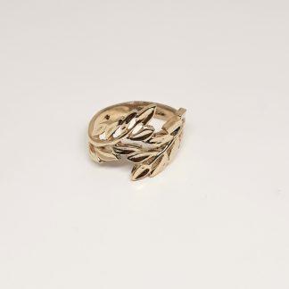 9ct Yellow Gold Laurel Leaf Ring - Goldfish Jewellery Design Studio