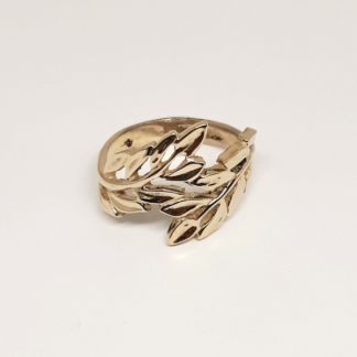 9ct Yellow Gold Laurel Leaf Ring - Goldfish Jewellery Design Studio