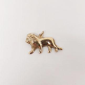 9ct Yellow Gold Lion Pendant- Goldfish Jewellery Design Studio