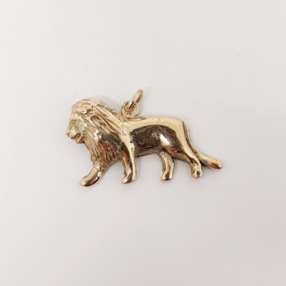 9ct Yellow Gold Lion Pendant - Goldfish Jewellery Design Studio