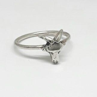 Sterling Silver Capricorn Stack Ring - Goldfish Jewellery Design Studio