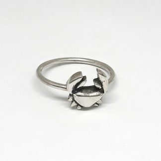 Sterling Silver Crab Stack Ring - Goldfish Jewellery Design Studio