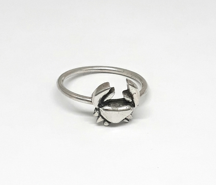 Sterling Silver crabe Ring-R320