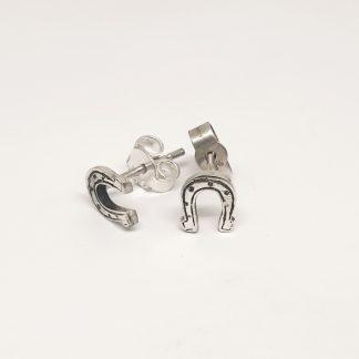 Sterling Silver Dainty Horseshoe Earrings - Goldfish Jewellery Design Studio