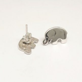 Sterling Silver Elephant Earrings - Goldfish Jewellery Design Studio