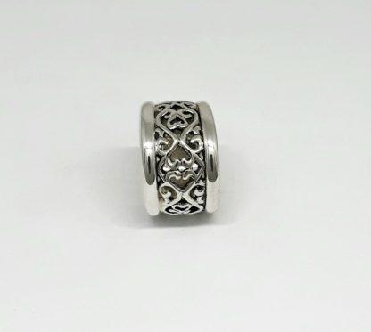 Sterling Silver Filigree Dome & Trims Ring - Goldfish Jewellery Design Studio