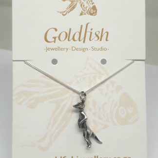 Sterling Silver Meerkat Charm on Chain - Goldfish Jewellery Design Studio