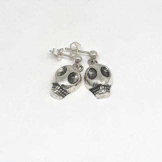 Sterling Silver Skull Earrings - Goldfish Jewellery Design Studio