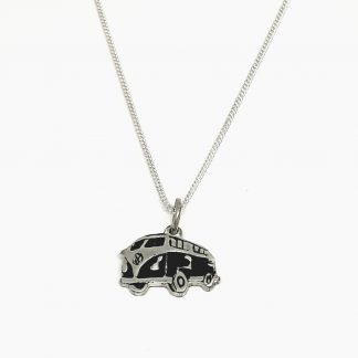 Sterling Silver VW Combi Charm on Chain - Goldfish Jewellery Design Studio