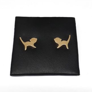 9ct Yellow Gold Monkey Earrings - Goldfish Jewellery Design Studio