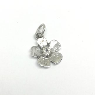 Sterling Silver Almond Flower Charm - Goldfish Jewellery Design Studio