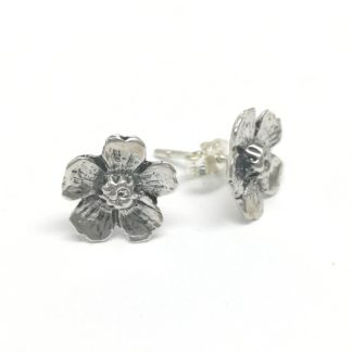 Sterling Silver Almond Flower Earrings (studs) - Goldfish Jewellery Design Studio