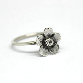 Sterling Silver Almond Flower Stack Ring - Goldfish Jewellery Design Studio