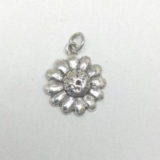 Sterling Silver Downward Daisy Charm - Goldfish Jewellery Design Studio