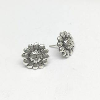 Sterling Silver Downward Daisy Earrings - Goldfish Jewellery Design Studio