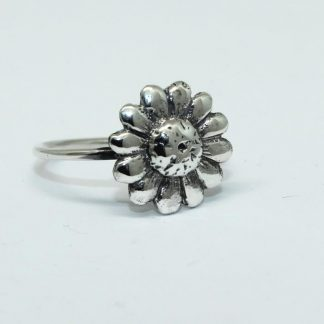 Sterling Silver Downward Daisy Stack Ring - Goldfish Jewellery Design Studio