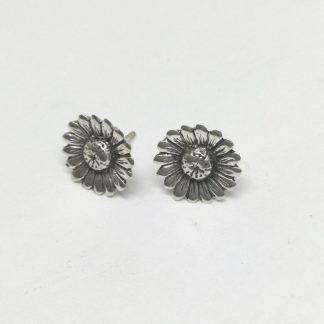 Sterling Silver Upward Daisy Earrings - Goldfish Jewellery Design Studio