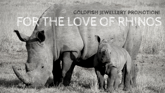 for the love of rhinos promotion goldfish jewellery design studio - rhino jewellery sale