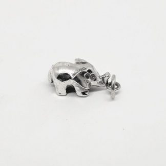 Sterling Silver 3D Elephant Charm - Goldfish Jewellery Design Studio