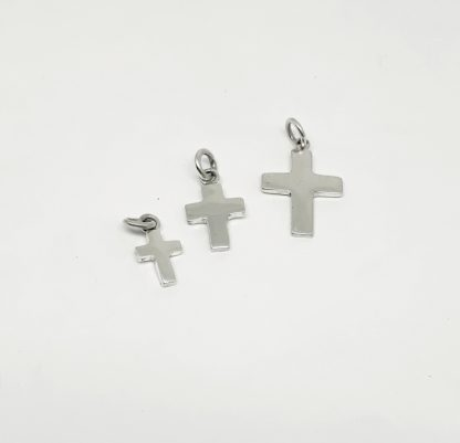 Sterling Silver Cross Charm - Goldfish Jewellery Design Studio