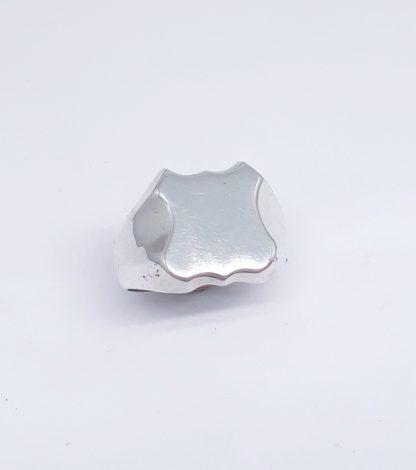 Sterling Silver Shield Signet Ring - Goldfish Jewellery Design Studio