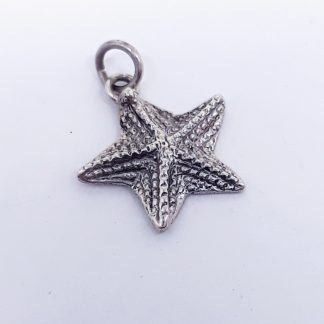 Sterling Silver Starfish Charm - Goldfish Jewellery Design Studio