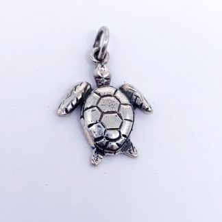Sterling Silver Sea Turtle Charm - Goldfish Jewellery Design Studio