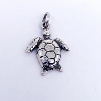 Sterling Silver Sea Turtle Charm - Goldfish Jewellery Design Studio