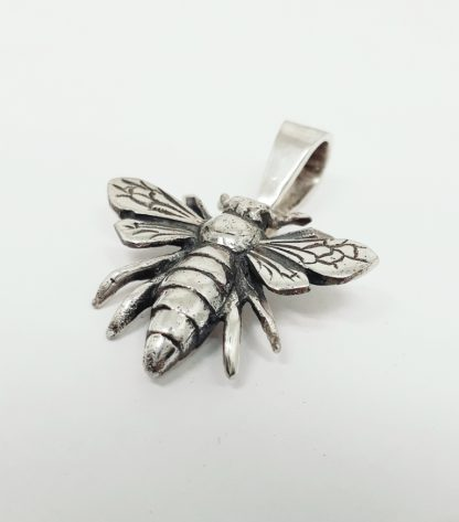Sterling Silver Queen Bee Pendant - Goldfish Jewellery Design Studio