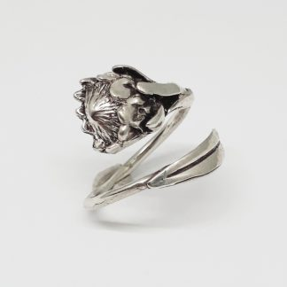Sterling Silver Wraparound Protea Ring - Goldfish Jewellery Design Studio