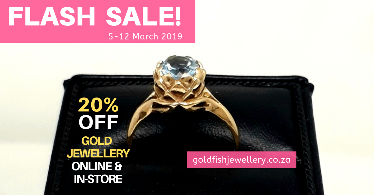 A gold celebration - Flash Sale: 20% Off Gold Jewellery - Goldfish Jewellery Design Studio