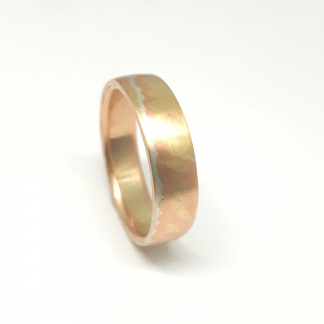 Mokume Gane Ring - Goldfish Jewellery Design Studio
