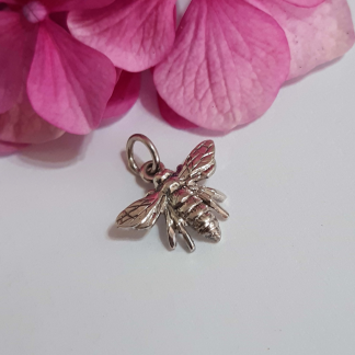 Silver Queen bee charm