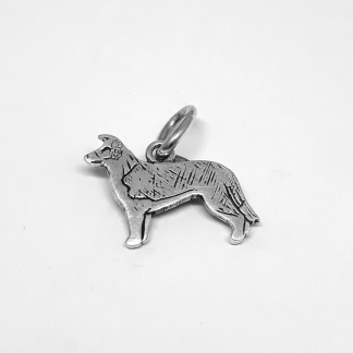 Sterling Silver Border Collie Charm - Goldfish Jewellery Design Studio