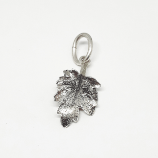 Sterling Silver Chrysanthemum Leaf Charm - Goldfish Jewellery Design Studio